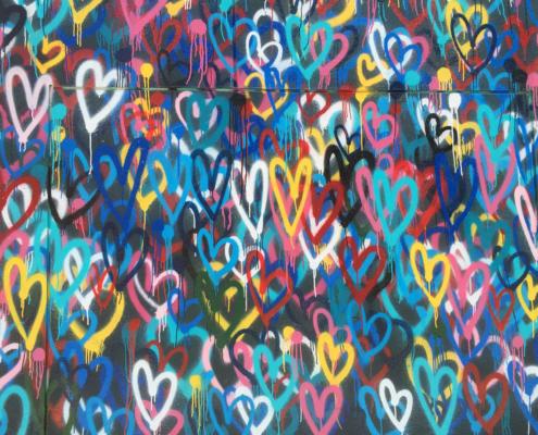 Hearts Graffiti Lovable Media
