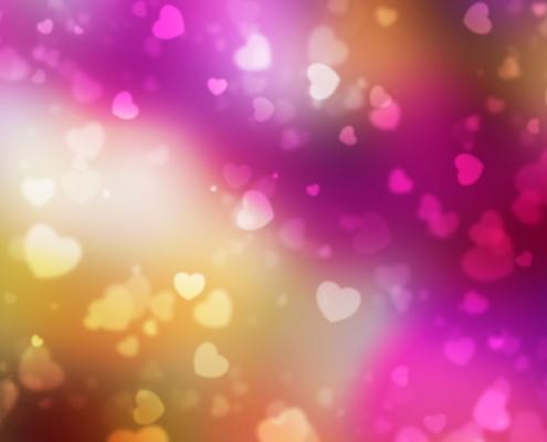Lovable Marketing Hearts Confetti Background