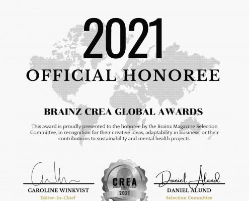 Brainz CREA Global Award winner, Katie Johns